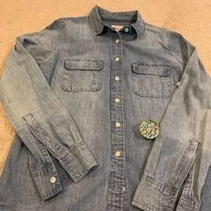 J.Crew Jeans Shirt button down in 100% cotton
